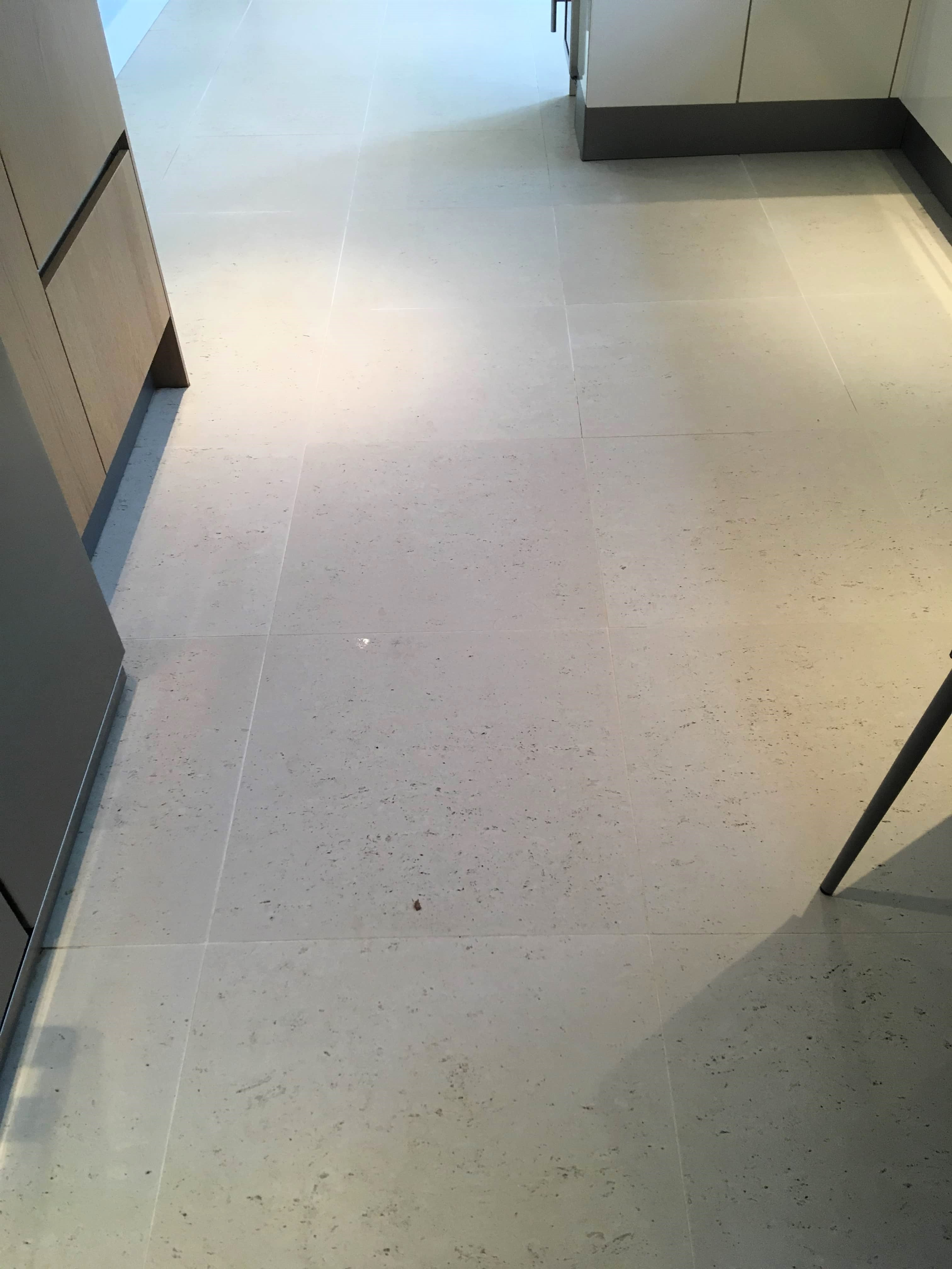 Deep Cleaning Cream Porcelain Tile And Grout In A Middlesex Kitchen Porcelain Tile Cleaning And Maintenance