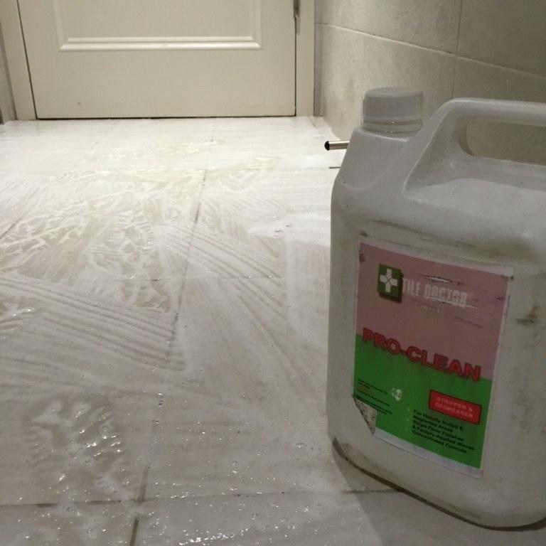 Cleaning Anti Slip tiles