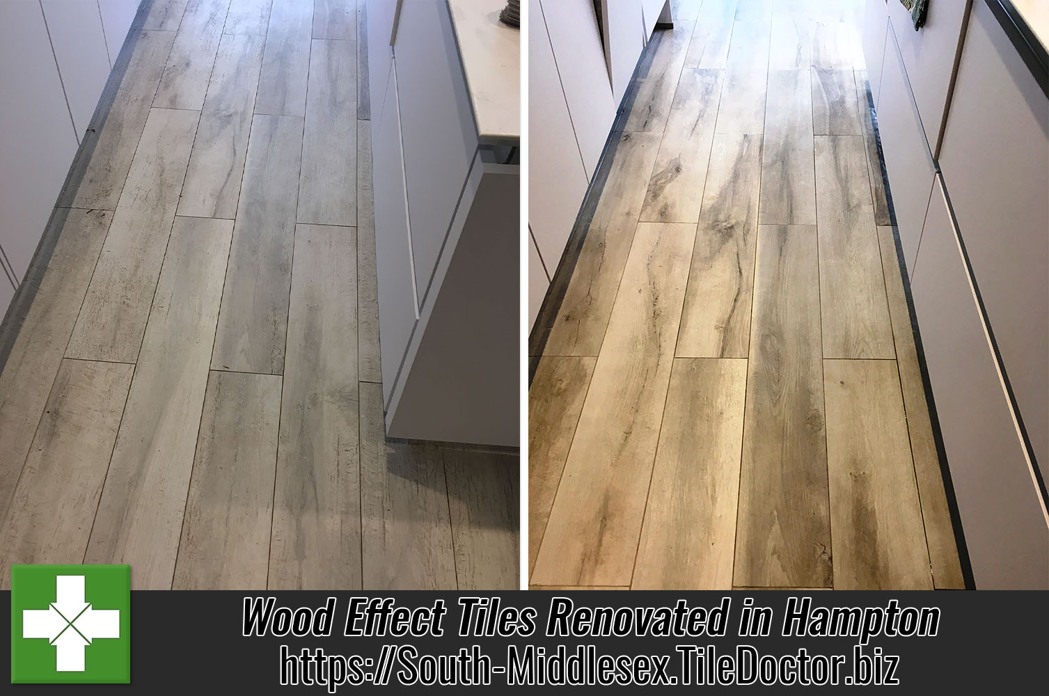 grout haze removed from newly installed wood effect